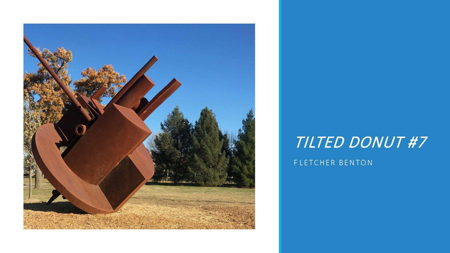 Tilted Donut #7 / Fletcher Benton